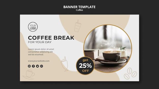 Modello della bandiera del caffè