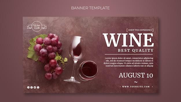 Modello della bandiera del vino di migliore qualità