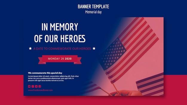 Modello della bandiera di memorial day