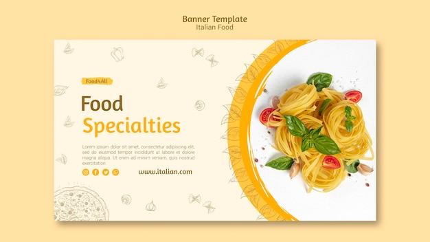Modello della bandiera di specialità alimentari