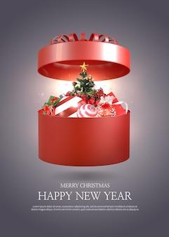 Modello di auguri di buon natale e felice anno nuovo