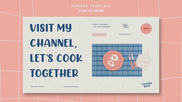Modello di bandiera di cucinare a casa