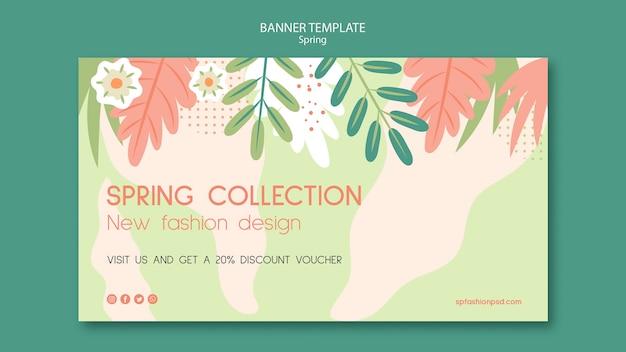 Modello di banner collezione primavera