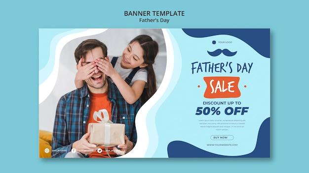 Modello di banner colorato giorno di padri