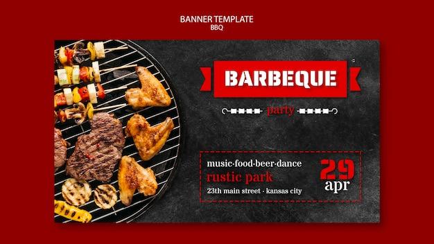 Modello di banner con barbecue