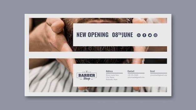 Modello di banner con il concetto di barbiere
