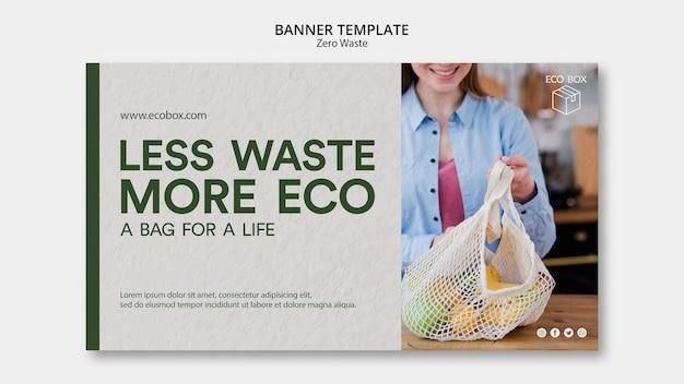 Modello di banner con zero waster