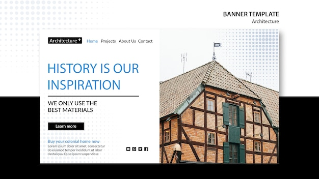 Modello di banner concetto arhitecture