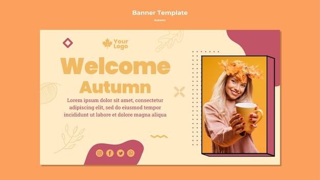 Modello di banner concetto autunno