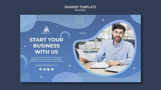 Modello di banner concetto aziendale