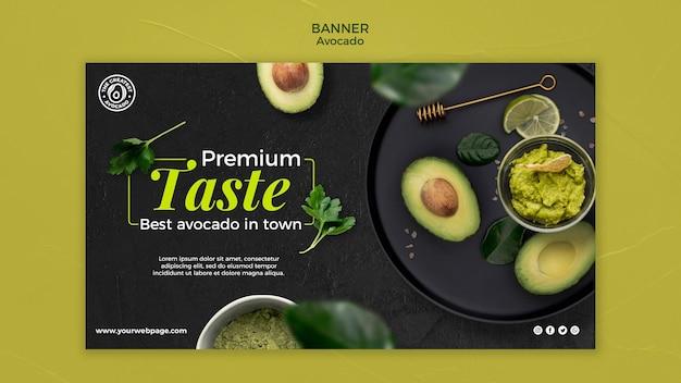 Modello di banner concetto di avocado