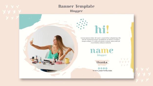Modello di banner concetto di blogger