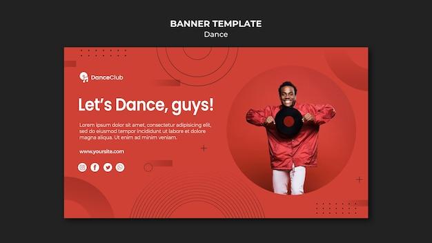 Modello di banner concetto di danza