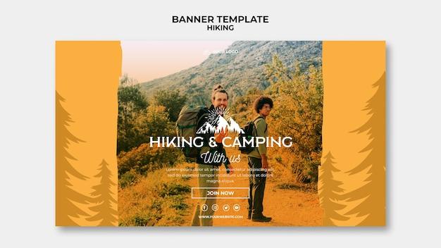 Modello di banner concetto di escursione