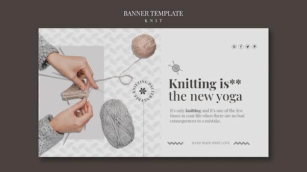 Modello di banner concetto di maglia