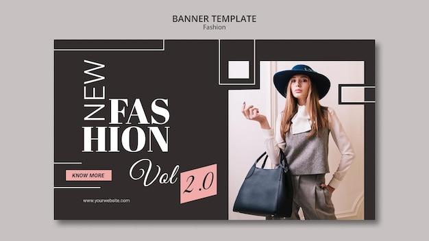 Modello di banner concetto di moda