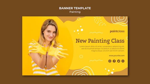 Modello di banner concetto di pittura