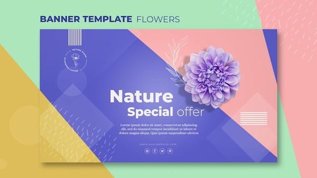 Modello di banner concetto fiore