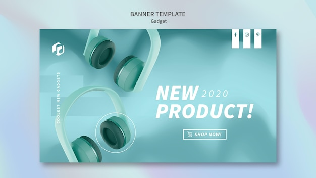 Modello di banner concetto gadget
