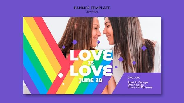 Modello di banner concetto gay prinde