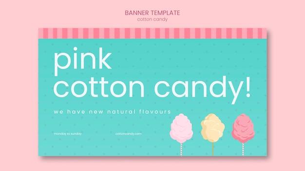 Modello di banner del negozio di caramelle