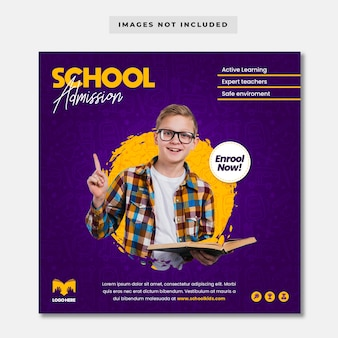 Modello di banner di ammissione alla scuola