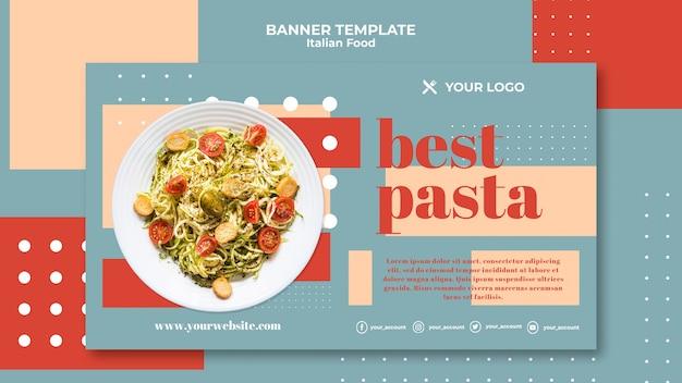 Modello di banner di cibo italiano