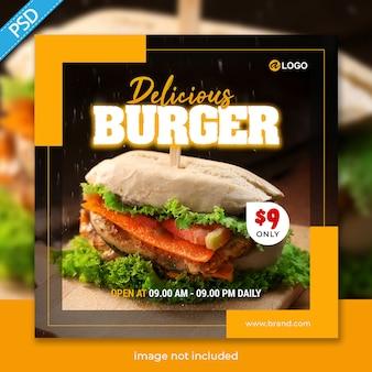 Modello di banner di cibo per social media instagram post premium