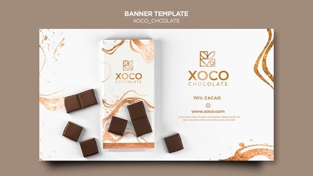 Modello di banner di cioccolato xoco