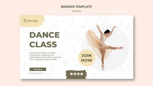 Modello di banner di classe di danza