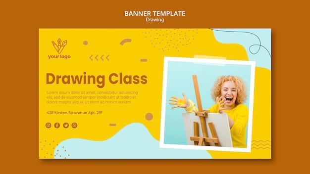 Modello di banner di classe di disegno