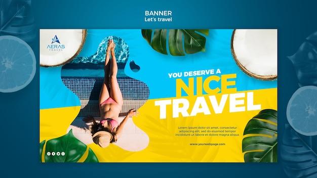 Modello di banner di concetto di viaggio