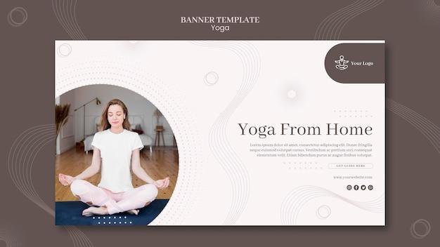 Modello di banner di concetto di yoga