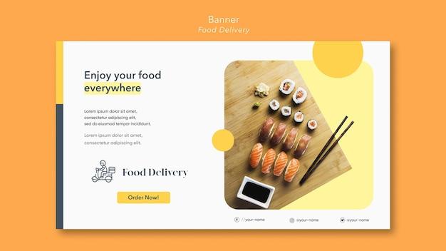 Modello di banner di consegna cibo