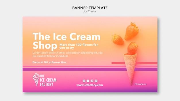 Modello di banner di gelato
