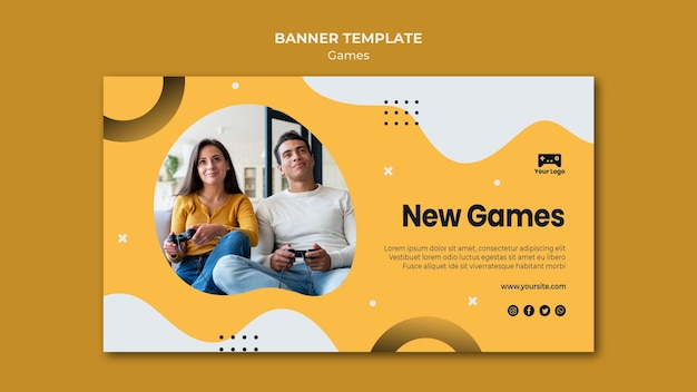 Modello di banner di giochi