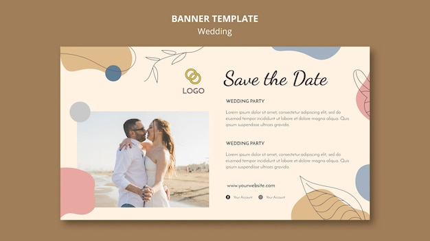 Modello di banner di nozze design