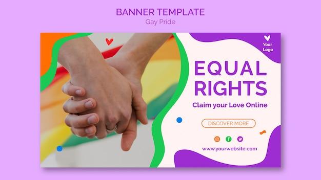 Modello di banner di orgoglio gay