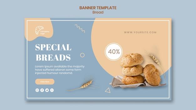Modello di banner di pane speciale