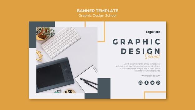 Modello di banner di progettazione grafica