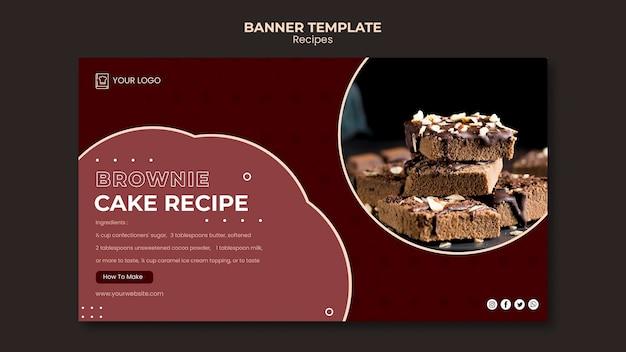 Modello di banner di ricette di dessert