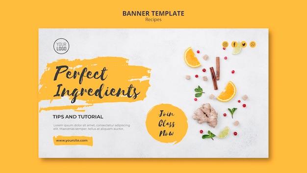 Modello di banner di ricette sane