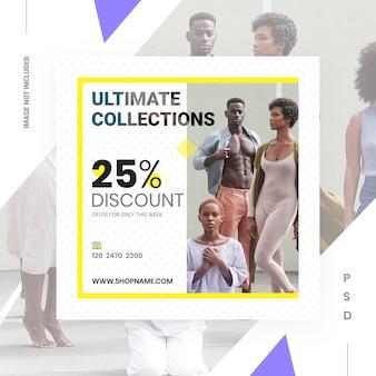 Modello di banner di vendita aziendale per i social media