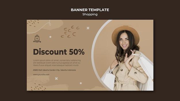 Modello di banner di vendita del negozio