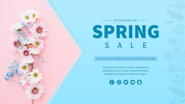 Modello di banner di vendita di primavera