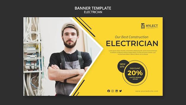 Modello di banner elettricista