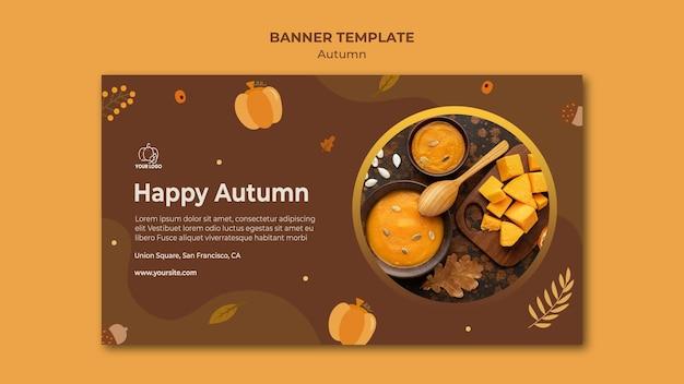 Modello di banner festa d'autunno
