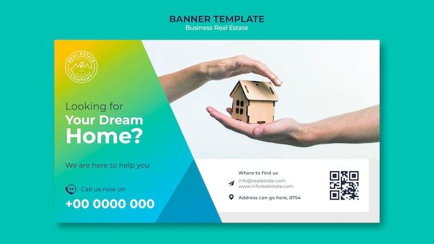 Modello di banner immobiliare moderno