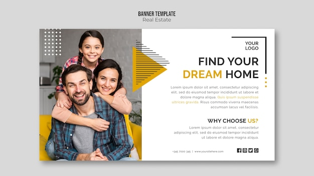 Modello di banner immobiliare