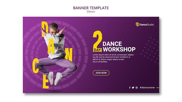Modello di banner officina di danza